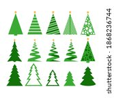 modern abstract christmas tree... | Shutterstock .eps vector #1868236744