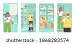 online ordering of products... | Shutterstock .eps vector #1868283574