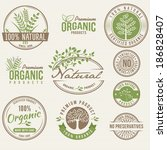 natural organic labels | Shutterstock .eps vector #186828407