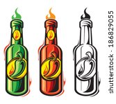 hot sauce | Shutterstock .eps vector #186829055