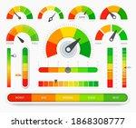 credit score indicators. good... | Shutterstock .eps vector #1868308777