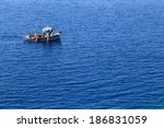 a closup of a fishing boat on a ...