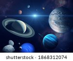 Solar System Planet  Sun And...