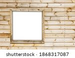 Rustic Window In Wooden Village ...