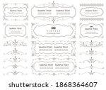 vintage ornament set. frames...   Shutterstock .eps vector #1868364607