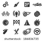 racing icons | Shutterstock .eps vector #186836735