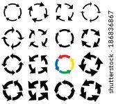 arrow symbols vector... | Shutterstock .eps vector #186836867