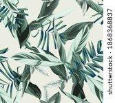 foliage seamless pattern ...   Shutterstock .eps vector #1868368837