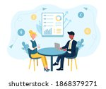 male and female characters... | Shutterstock .eps vector #1868379271