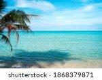 Blue Sky And Sea Background. ...