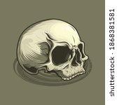 illustration of  vintage skull... | Shutterstock .eps vector #1868381581
