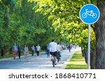 Bike Lane  Bike Path Sign In...