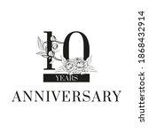 black inscription ten years... | Shutterstock .eps vector #1868432914