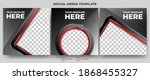 set of editable modern square... | Shutterstock .eps vector #1868455327