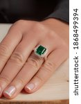 Diamond Ring On Groomed Lady...