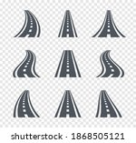 curved road symbols. highway... | Shutterstock .eps vector #1868505121