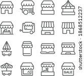 market  kiosk icon illustration ... | Shutterstock .eps vector #1868512237