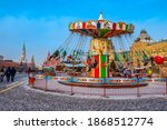 Moscow. Russia. Carousel On Red ...