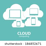 cloud computing concept on... | Shutterstock . vector #186852671