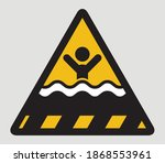 warning deep water symbol... | Shutterstock .eps vector #1868553961
