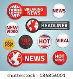 set of media labels. eps10. | Shutterstock .eps vector #186856001