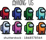 among us illustration color... | Shutterstock .eps vector #1868578564