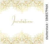 vector decorative frame.... | Shutterstock .eps vector #1868579464