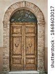 Ancient Wooden Door   Old...