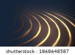abstract dark blue and gold... | Shutterstock .eps vector #1868648587