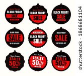 black friday sales badge and... | Shutterstock .eps vector #1868681104