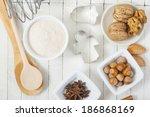 dessert ingredients and... | Shutterstock . vector #186868169