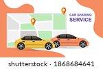 car sharing service...   Shutterstock .eps vector #1868684641
