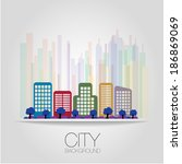 city background | Shutterstock .eps vector #186869069