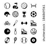 sport design over white... | Shutterstock .eps vector #186869561