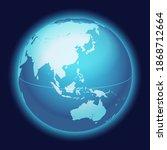 vector world globe map. china ... | Shutterstock .eps vector #1868712664