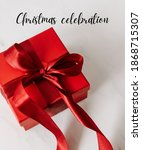 red christmas gifts with super...   Shutterstock . vector #1868715307