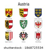 coat of arms of the states of... | Shutterstock .eps vector #1868725534