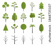 set of forest tree icon. pine ... | Shutterstock .eps vector #1868735107