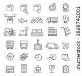 logistics cargo delivery line... | Shutterstock .eps vector #1868742001