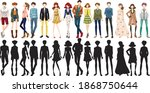 set of urban people character...   Shutterstock .eps vector #1868750644