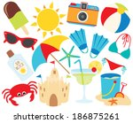 summer vacation   beach | Shutterstock .eps vector #186875261