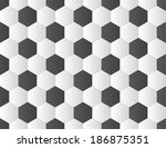 black and white soccer ball... | Shutterstock .eps vector #186875351