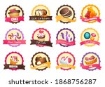 set of logos with various... | Shutterstock .eps vector #1868756287