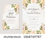 set of card with lily flower ... | Shutterstock .eps vector #1868769787