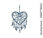 Heart Dreamcatcher With Tribal...
