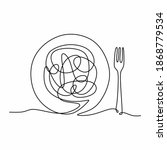 single continuous line drawing... | Shutterstock .eps vector #1868779534
