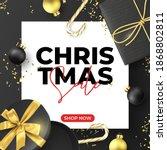 christmas sale banner template. ...   Shutterstock .eps vector #1868802811