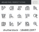 set of vector line icons... | Shutterstock .eps vector #1868812897