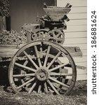 Old Farm Equipment In Sepia...