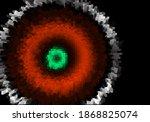 Pixel White Red Green Circle On ...